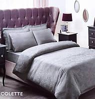 Постельное белье Tac жаккард - Colette tas серый  евро, фото 1