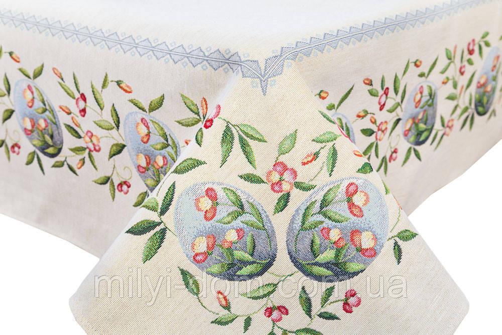 """Скатертина гобеленова """"Весняні квіти"""", 137*280 см"""