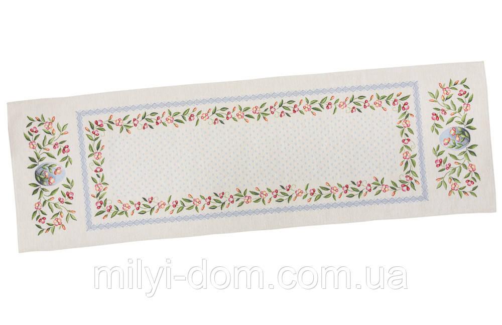 """Наперон\дорожка на стол  """"Весенние цветы"""", 45х140 см"""