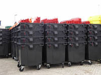 Контейнер для мусора с плоской крышкой на 1100л