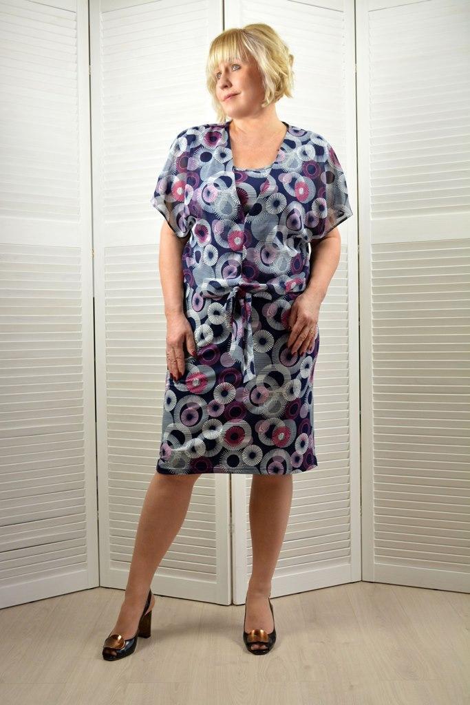 Комплект: Блузон и платье - Модель 1760к