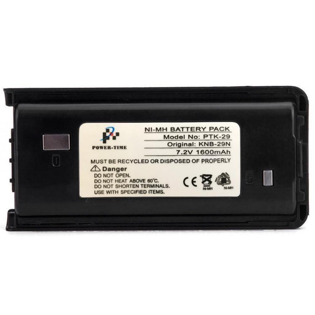 Аккумуляторная батарея PowerTime эквивалент акумулятора KNB-29N для Kenwood 1600 мАч NiMH (PTK-29)
