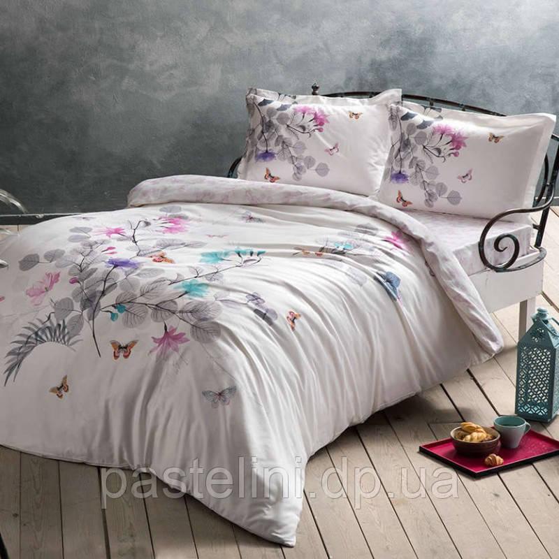TAC Sadler gri сатин семейный комплект постельного белья