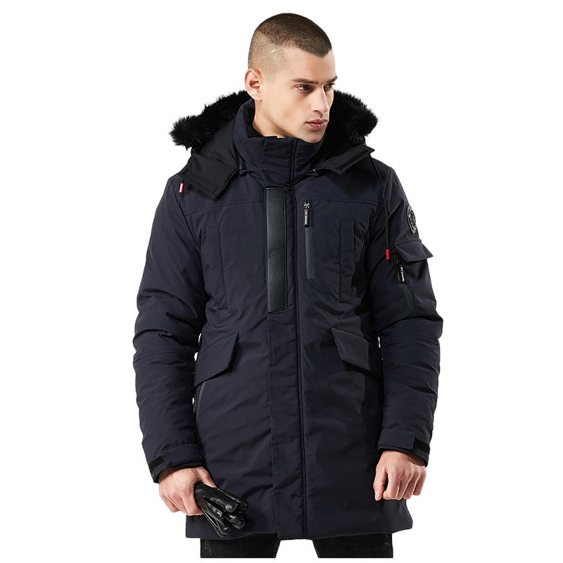 Куртка мужская осень зима бренд Metropolis (Канада) размер 46 темно синяя 03001/021