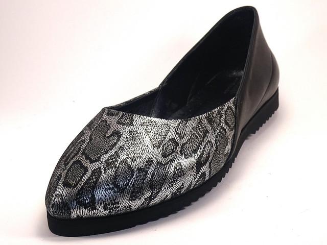 Балетки серебреные кожаные женская обувь Scarab V Silver Leo by Rosso Avangard