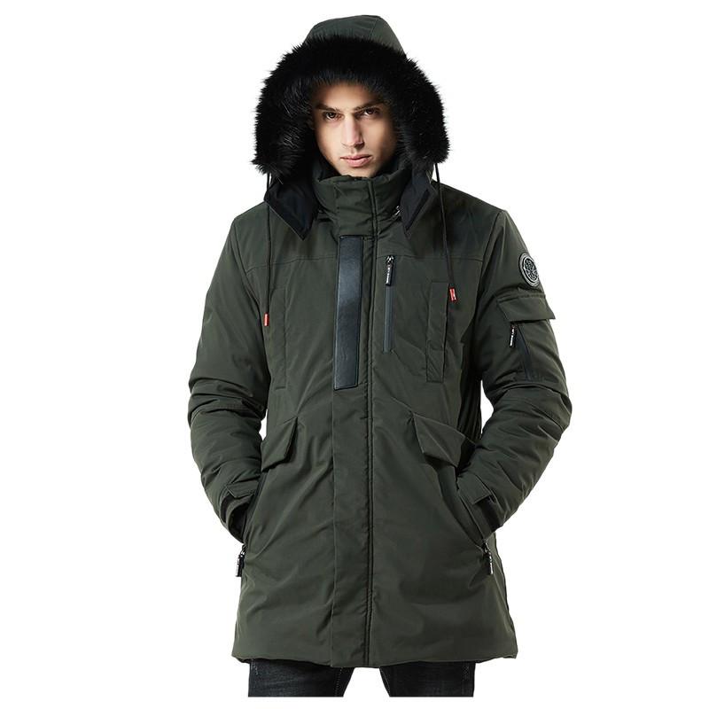 Куртка мужская и подростковая осень-зима бренд Metropolis (Канада),  03001-03 цвет хаки