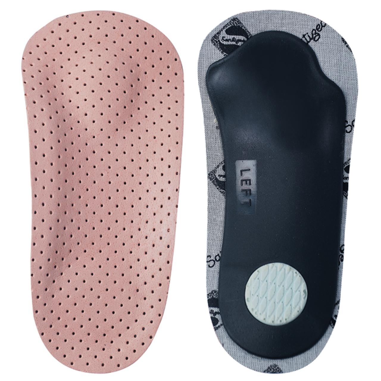 Кожаные полустельки-супинаторы для поддержки продольного и поперечного сводов стопы ШНС-001, 35-36