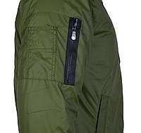 Мужская куртка-бомбер 46-52 на тонком синтепоне,весна-осень оливка
