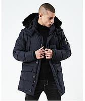 Куртка парка мужская холодная осень зима бренд City Channel (Канада) 03003-02 цвет темно-синий, фото 1