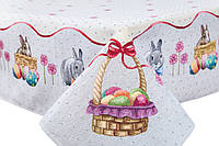 """Скатерть гобеленовая """"Пасхальный кролик"""", 137*180 см"""