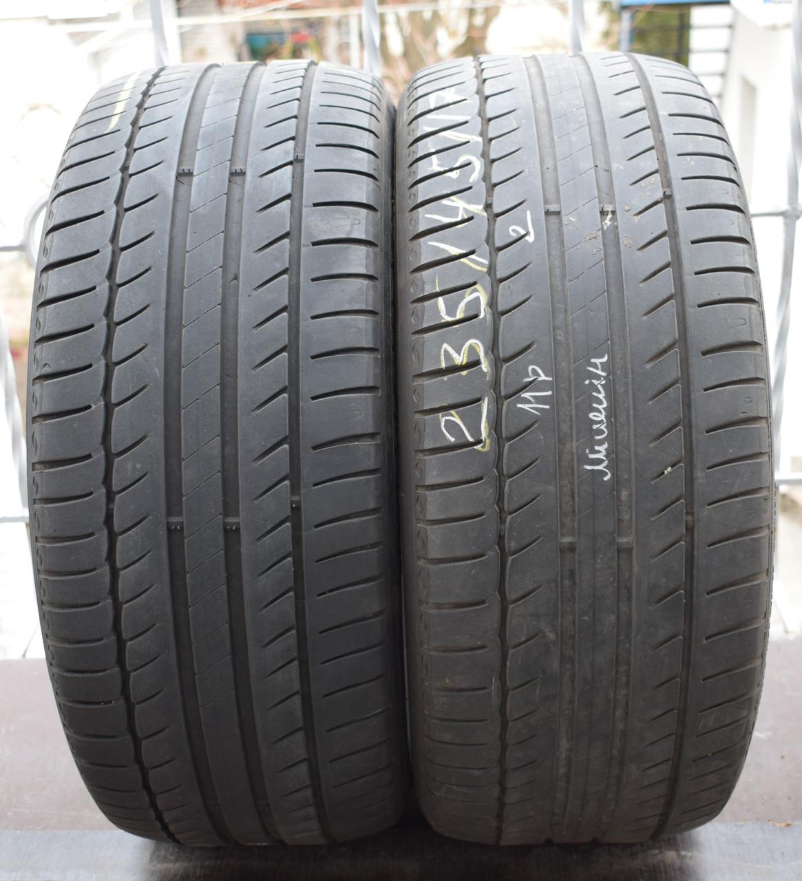 Летние шины б/у 235/45 R17 Michelin Primacy, пара