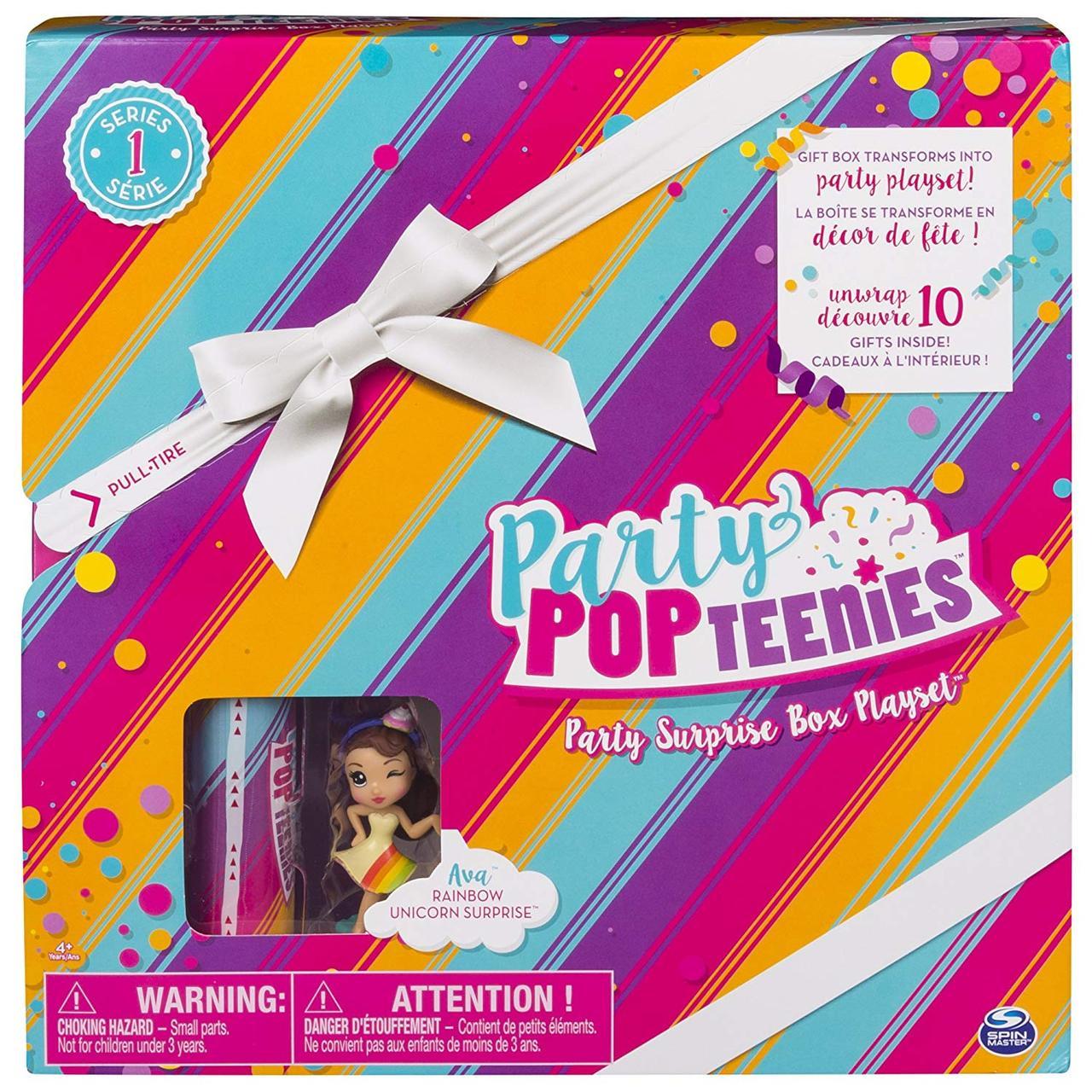 Игровой набор Party Popteenies «Подарок – сюрприз» с куклой хлопушкой, Spin Master