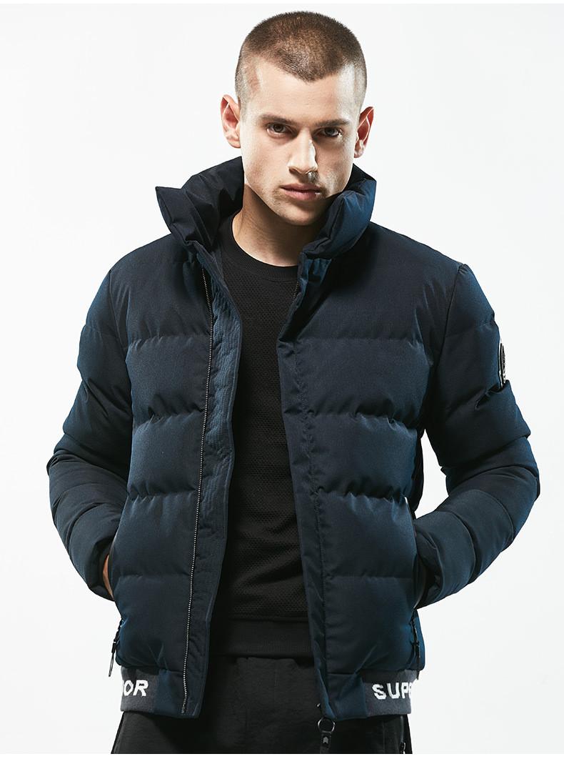 Куртка бомбер мужская осень бренд  City Channel (Канада) размер 42 темно синяя 03004/021