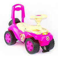 """Детская машинка-каталка (толокар) Орион """"Ориоша"""" с клаксоном розовый 198_Р"""