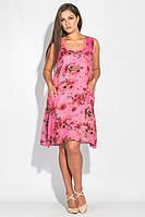 Платье женское из натурального хлопка AG0005883 Фуксия