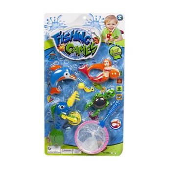 Магнитная рыбалка сачок, русалочка, рыбки