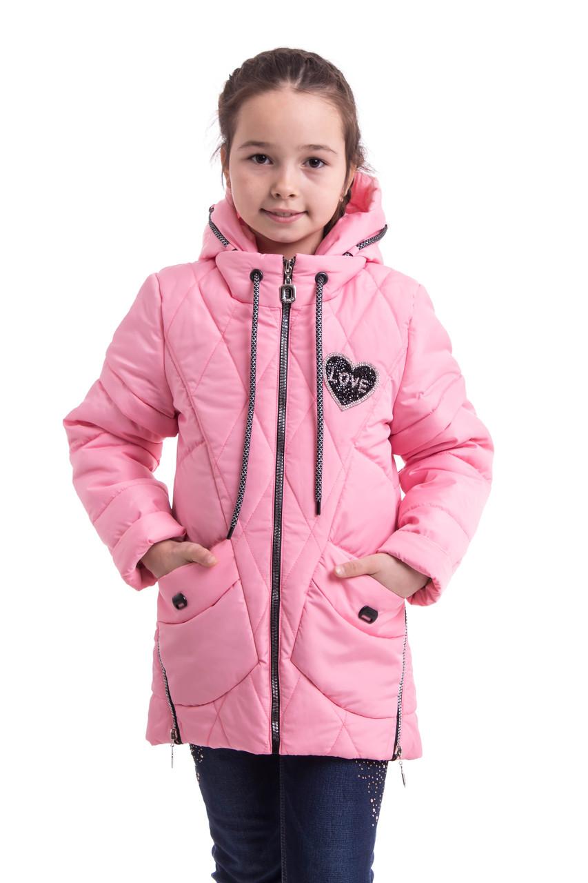 Куртка для девочек весенняя интернет магазин  34-42  Розовый