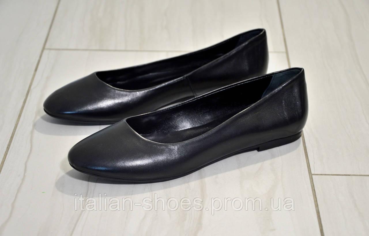 Черные кожаные балетки Kore Италия к.-807