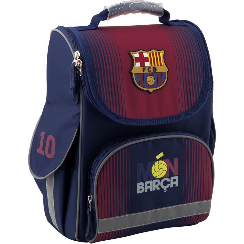 64a081e5d8c9 Рюкзак школьный каркасный Kite Education FC Barcelona (BC19-501S ...