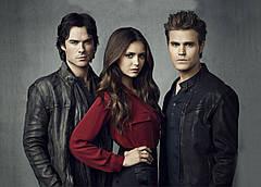 Картина GeekLand The Vampire Diaries Дневники Вампира  Елена, Стефан и Деймон 60х40 VD 09.001