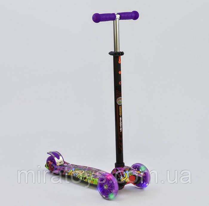 Самокат триколісний для дівчаток Best Scooter Максі 1390 зі світними колесами
