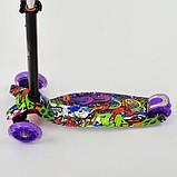 Самокат триколісний для дівчаток Best Scooter Максі 1390 зі світними колесами, фото 3