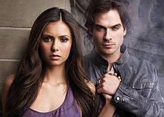 Картина GeekLand The Vampire Diaries Дневники Вампира  Елена и Деймон 60х40 VD 09.002