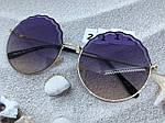 Круглые солнцезащитные очки фиолетовые, фото 6
