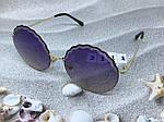 Круглые солнцезащитные очки фиолетовые, фото 7