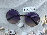 Круглые солнцезащитные очки фиолетовые, фото 5