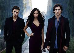 Картина GeekLand The Vampire Diaries Дневники Вампира  Елена Стефан и Деймон 60х40 VD 09.003