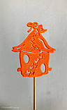 Скворечник с пчёлками декор на палочке. 7 цветов. Пасхальный декор на палочке из пластика, фото 9