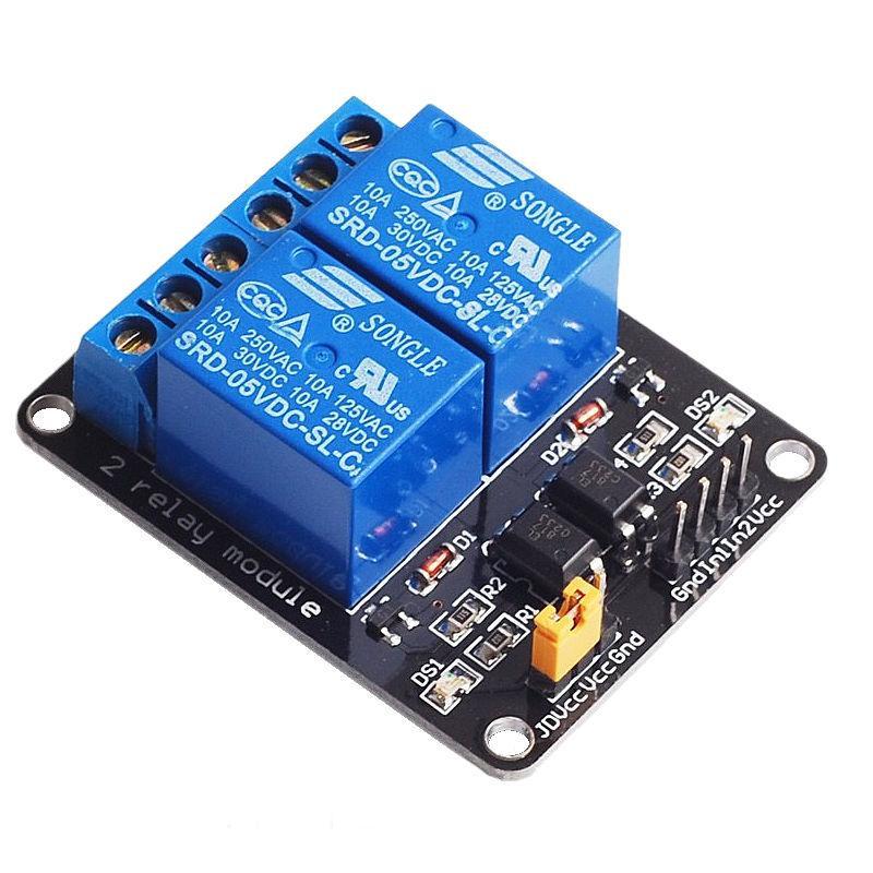 Релейный модуль двойной 5в с опторазвязкой