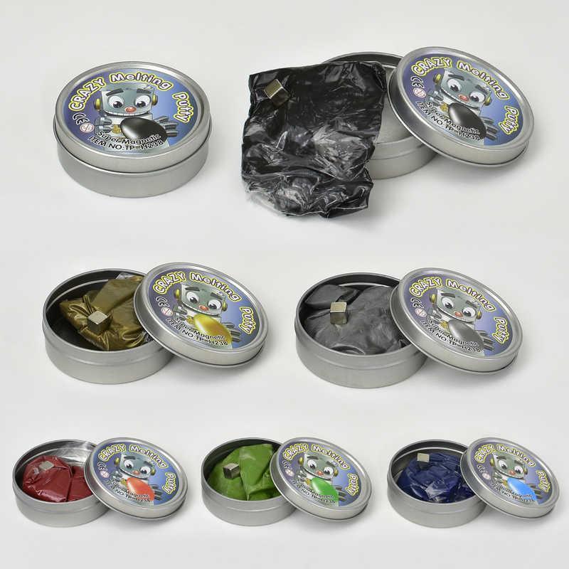 Жвачка для рук С 23186 /ЦЕНА ЗА 1 ШТУКУ/ (240) 5 цветов, МАГНИТНАЯ,  в комплекте магнит, 80 грамм, 12шт в упаковке