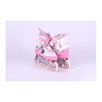 Ролики Power Superb . розовые  39-42