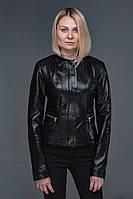 Женская кожаная куртка 55 см.