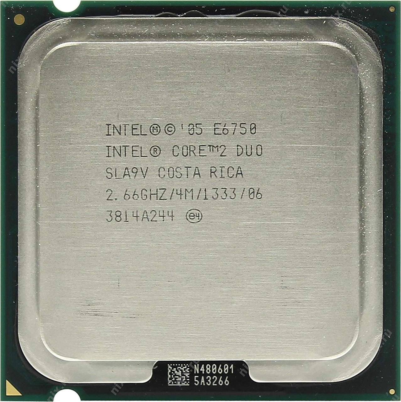 Процессор Intel Core 2 Duo E6750 2.66GHz/4M/1333 (SLA9V) s775, tray