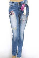 Жіночі джинси низька посадка з бісером, фото 2