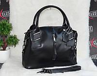 Женская кожаная сумочка черная, фото 1