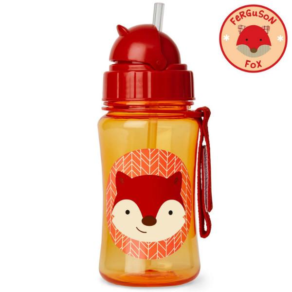 Skip Hop Zoo Бутылочка поильник с трубочкой Лисичка лиса Ferguson Fox  Strawbottle