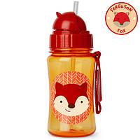 Skip Hop Zoo Бутылочка поильник с трубочкой Лисичка лиса Ferguson Fox  Strawbottle, фото 1