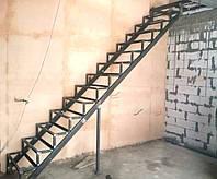 Каркас лестницы под зашивку. Прямая лестница, фото 1