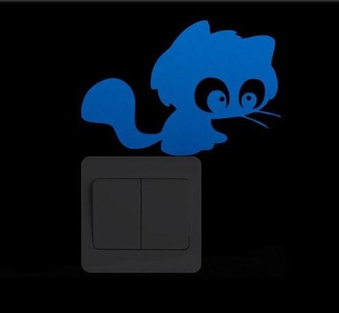 """Люминесцентная наклейка """"Кот"""" - 10*15см"""