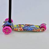 Самокат триколісний для дівчаток Best Scooter Maxi 1395. Самокат з світяться колесами, фото 3