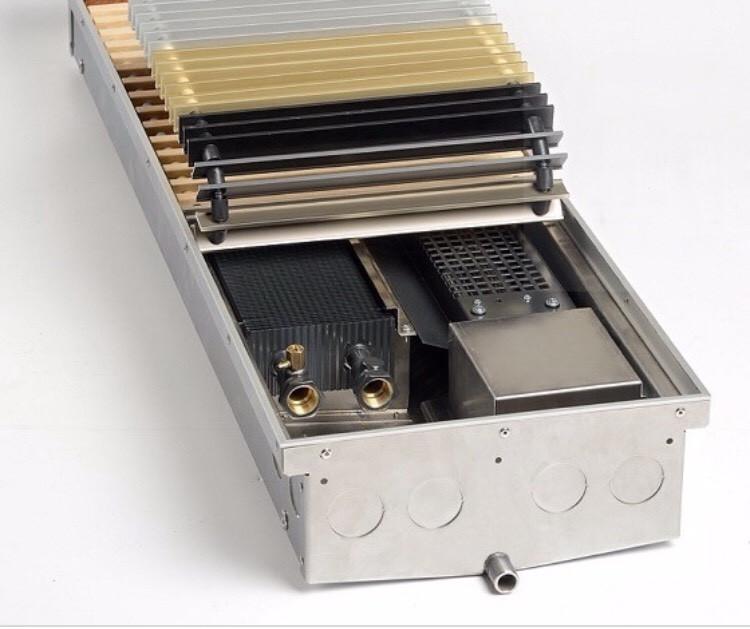 Внутріпольний конвектор з вентилятором TeploBrain DТ 300 для вологих приміщень