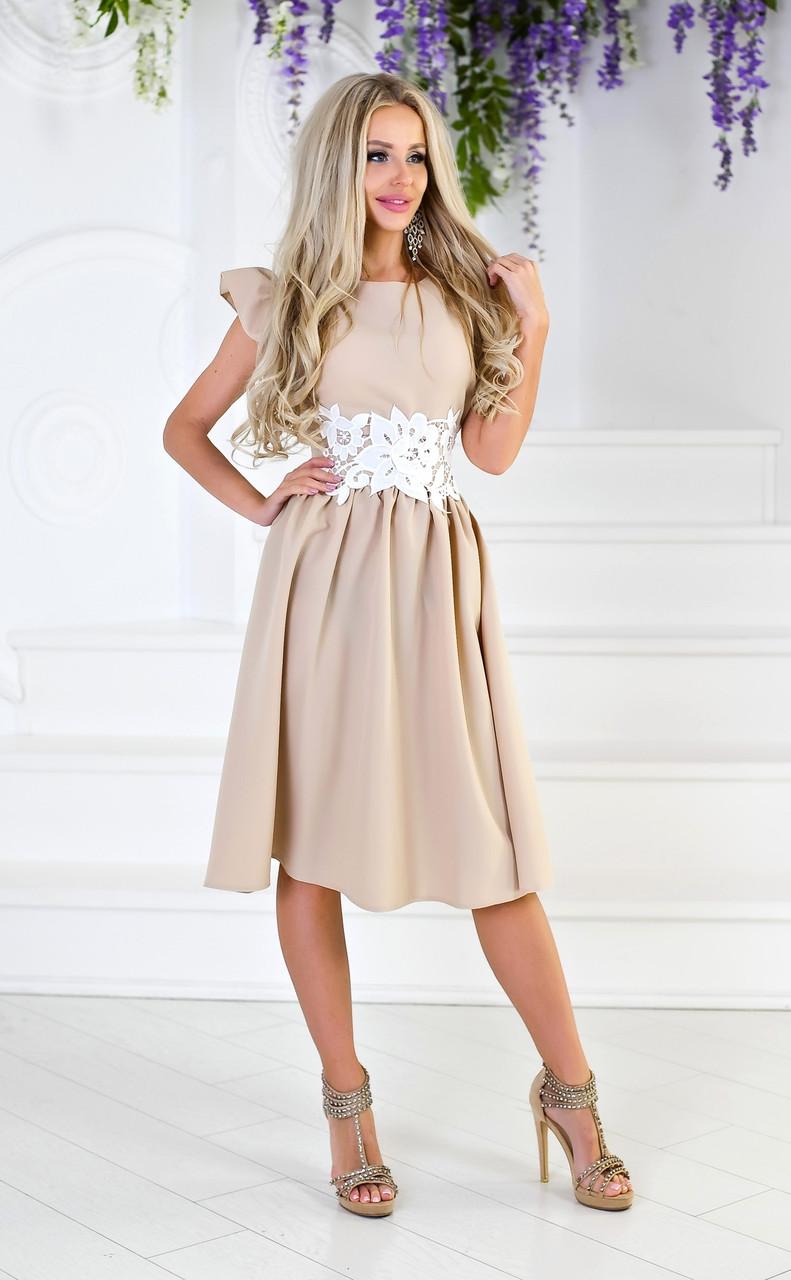fc86149ca11 Платье с отделкой кружева в расцветках 4272  Интернет-магазин модной ...