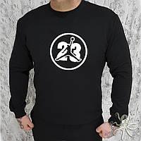 Мужской черный свитшот, кофта, лонгслив, реглан Jordan 23, Реплика