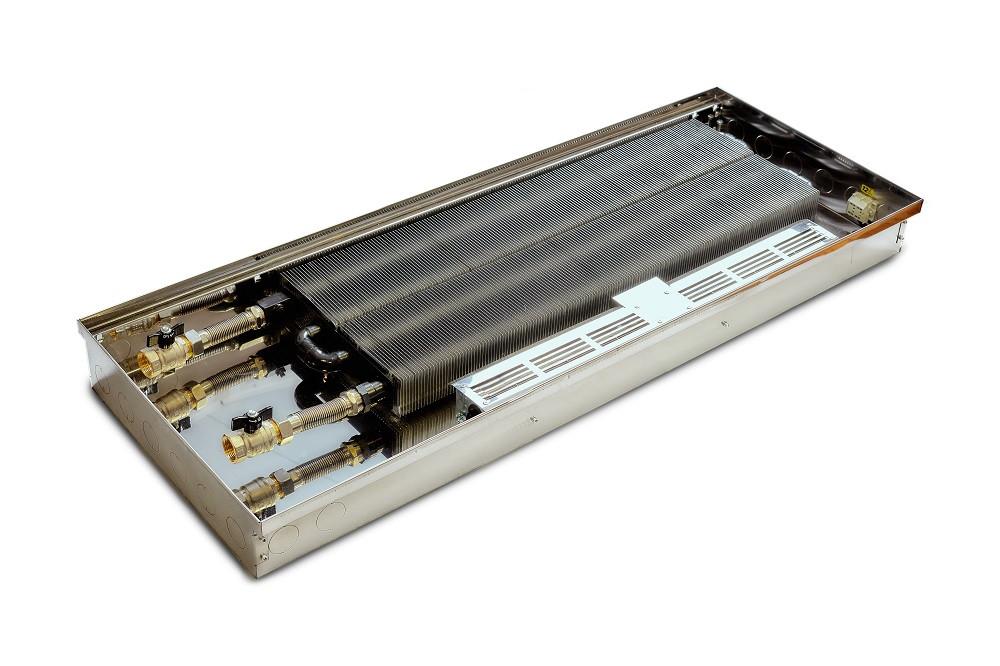 Внутрипольный конвектор с вентилятором TeploBrain DSТ 380 с дренажом