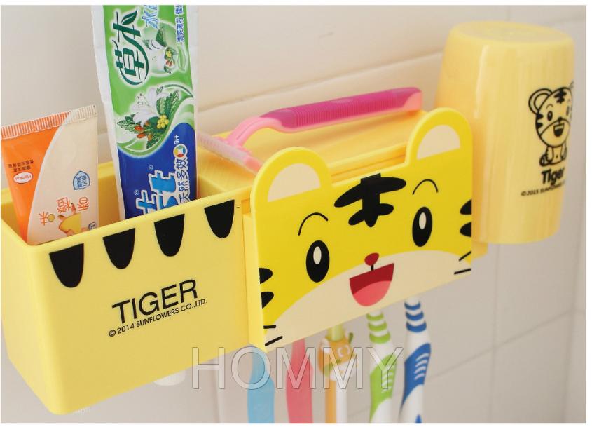Дозатор - автомат для пасты + Набор для ванной. Тигренок