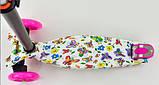 Самокат триколісний для дівчинки Best Scooter Максі 1396. Самокат з підсвічуванням коліс, фото 3